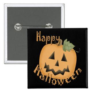 Feliz Halloween Jack sonriente O Lantern Pin