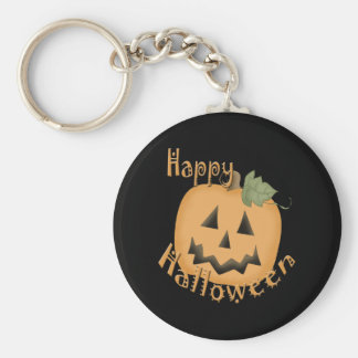 Feliz Halloween Jack sonriente O'Lantern Llavero Redondo Tipo Pin