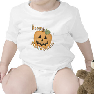 Feliz Halloween Jack sonriente O'Lantern Trajes De Bebé
