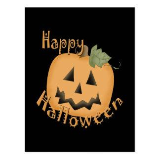 Feliz Halloween Jack sonriente O'Lantern Postal