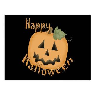 Feliz Halloween Jack sonriente O'Lantern Postales