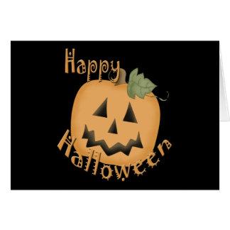Feliz Halloween Jack sonriente O'Lantern Tarjeton