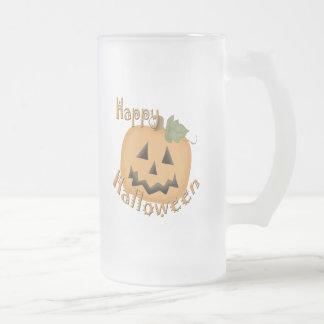Feliz Halloween Jack sonriente O'Lantern Taza
