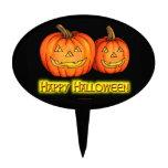 Feliz Halloween Jackolanterns Palillos De Tarta