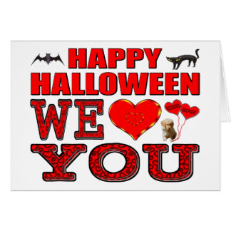 Feliz Halloween le amamos Tarjeta De Felicitación