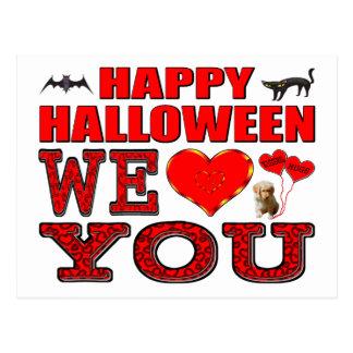 Feliz Halloween le amamos Tarjetas Postales