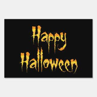 Feliz Halloween Letreros