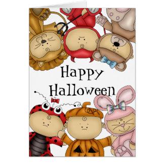 Feliz Halloween lindo de los bebés Tarjeta De Felicitación