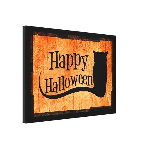 Feliz Halloween Lona Envuelta Para Galerias