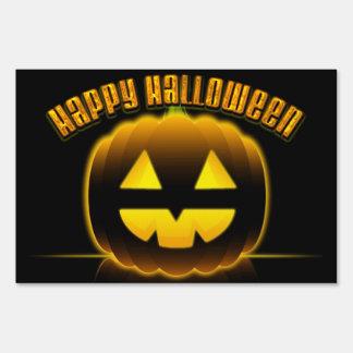 Feliz Halloween muestra de 3 yardas Señal