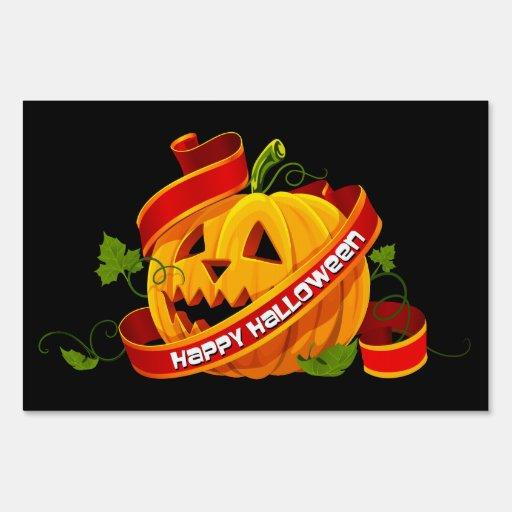 Feliz Halloween muestra de 6 yardas
