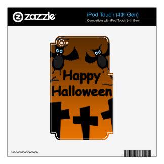 Feliz Halloween - palos en el cementerio iPod Touch 4G Calcomanías