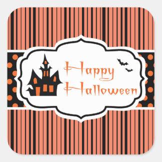 Feliz Halloween Calcomanía Cuadradas Personalizada