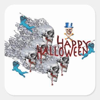 Feliz Halloween Pegatina Cuadrada