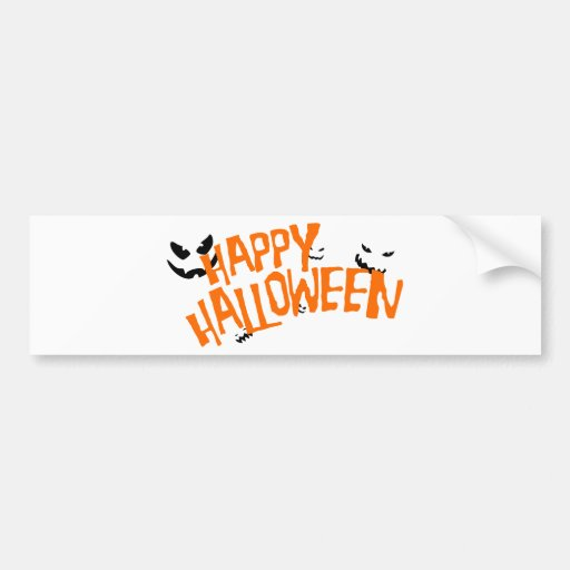 Feliz Halloween Pegatina De Parachoque