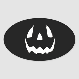 Feliz Halloween Pegatina Ovalada