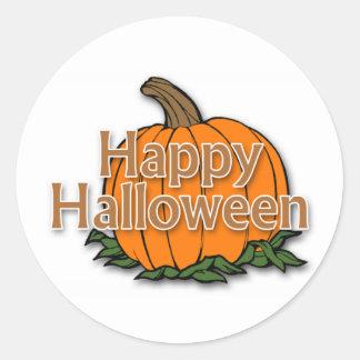 Feliz Halloween Pegatina Redonda