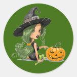 Feliz Halloween - Pegatina Redonda