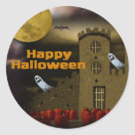 Feliz Halloween Pegatinas Redondas