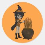 Feliz Halloween - Pegatinas Redondas