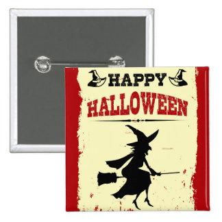 Feliz Halloween Pin Cuadrada 5 Cm