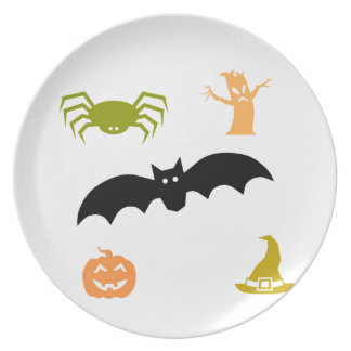 Feliz Halloween Plato Para Fiesta