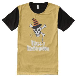 Feliz Halloween por todo la camiseta impresa del