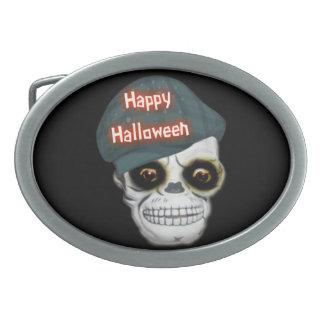 Feliz Halloween principal esquelético de la hebill Hebilla Cinturon