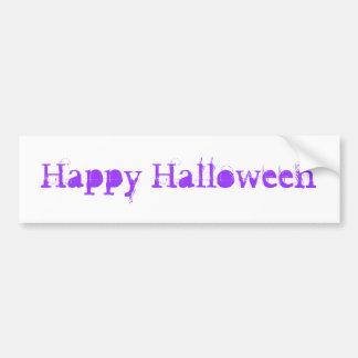 Feliz Halloween púrpura Etiqueta De Parachoque
