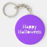 Feliz Halloween, púrpura Llavero Personalizado