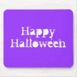 Feliz Halloween, púrpura Tapetes De Ratón