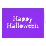 Feliz Halloween, púrpura Tarjeta De Felicitación