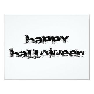 """Feliz Halloween retro de la roca Invitación 4.25"""" X 5.5"""""""
