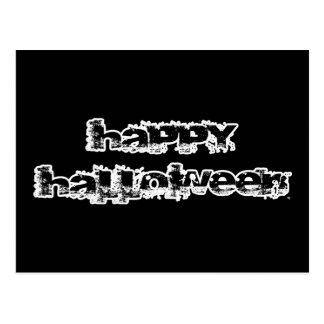 Feliz Halloween retro de la roca Tarjeta Postal