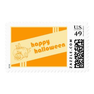 feliz Halloween: retro: Estampilla