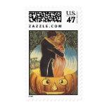 Feliz Halloween romántico del vintage del KRW Timbre Postal