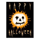 feliz Halloween: splatolantern Tarjeta Postal