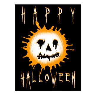 feliz Halloween splatolantern Tarjeta Postal