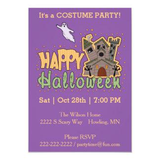 """Feliz Halloween Starburst Invitación 5"""" X 7"""""""