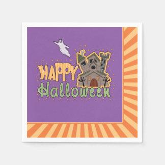 Feliz Halloween Starburst Sq Servilletas Desechables