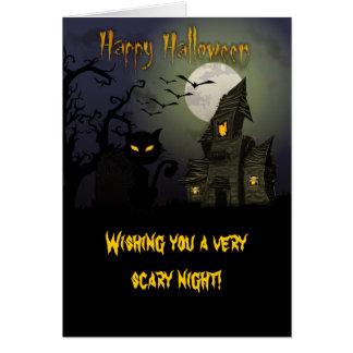 Feliz Halloween Tarjeton