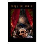 Feliz Halloween - tarjeta de nota del espacio en b