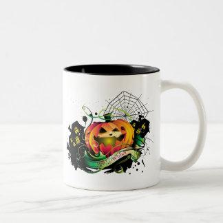 Feliz Halloween Taza De Dos Tonos