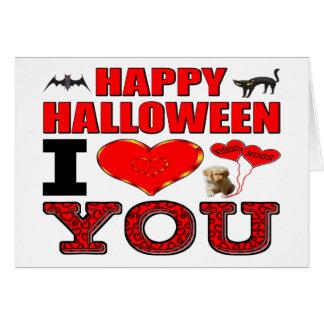 Feliz Halloween te amo Tarjeta De Felicitación