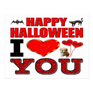 Feliz Halloween te amo Tarjetas Postales