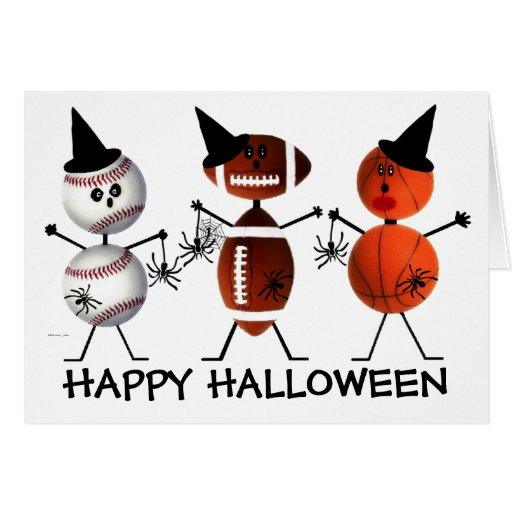 Feliz Halloween todos los deportes Tarjeta