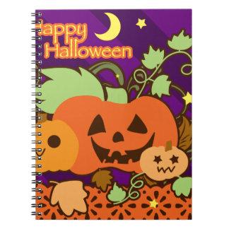 """""""Feliz Halloween"""" tres linternas lindas del o de J Libros De Apuntes"""