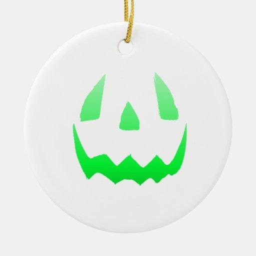 Feliz Halloween verde del resplandor Adorno