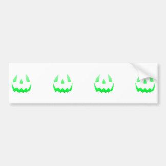 Feliz Halloween verde del resplandor Pegatina De Parachoque