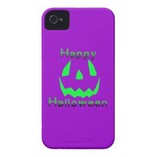 Feliz Halloween verde iPhone 4 Carcasas